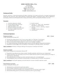 Cpa Resume Sample Accounting Example For Accountant John Smith Samples Singapore