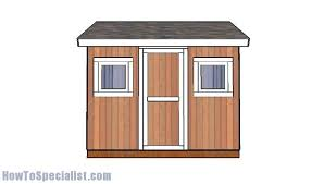 8x10 Saltbox Shed Plans by 8x10 Shed Plans Howtospecialist How To Build Step By Step Diy