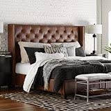 Custom Uph Beds Dublin Queen Straight Wing Bed 1599