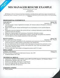Excellent Mis Manager Resume Sample For 50 New Gallery Of