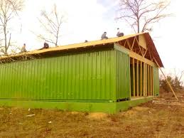 Two Shipping Cargo Container Shed Or Shelter Idea For Storage House Barn