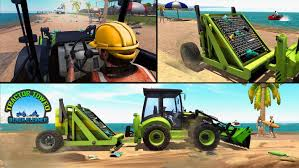 Beach Cleaner Sand Excavator: Dump Truck Driving For Android - APK ...