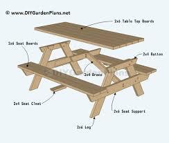 superlative free picnic table plans 2x6 39 to elegant picnic