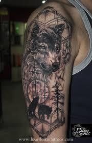 Wolf Dreamcatcher Tattoo On Half Sleeve Photo