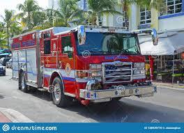 100 Fire Trucks Unlimited Truck In Miami Beach FL USA Editorial Image Image