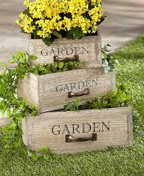 Vintage Wooden Drawer Garden Planters
