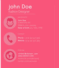 Fashion Designer Resume Sample Download Pink