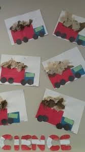 Garbage Truck Arts N Craft Let Kids Identify Each Shape Before Glueing Downtissue Paper Used As Automobiles And Airplanes Week