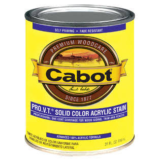 Cabot 800 Self-Priming Water Based Solid Color Siding Stain - 1qt, Neutral Base