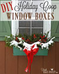 Winterberry Christmas Tree Farm by Diy Foraged Winterberry Holiday Window Boxes For Your Chicken Coop