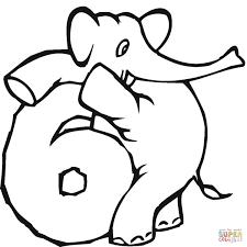 Dibujo De Número 6 Para Colorear Dibujos Para Colorear