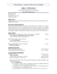 Entry Level Resume Example Accounting Sample Gallery Photos