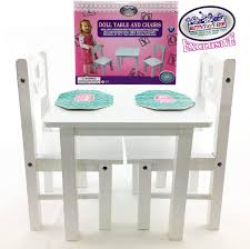 Official Summer Mattys Toy Stop 18 Inch Doll Furniture White ... Table And Chair Set Fits 18 Dolls Diy Ding Chairs For American Girl Mentari Wooden Dollys Tea Party Setting Inclusive Of 2 By Mamagenius House Eames Kspring Thingiverse Pin On Lundby Dollhouse Room Miaimmiaturesbring Dolls Houses Back D1v15 Gazechimp 5pcs Simulation Miniature Fniture Toys Dollhouse Sets Baby For Kids Play Toy Kitchen Decor Hot New Butterfly Dressing Makeup Bedroom Disney Princess Royal Tea Party Playset Palace X 3 Sweet Vintage Wrought Iron Bistro With Extras
