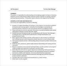 Sample Resume For Territory Sales Manager Feat Job Description To Produce Astonishing