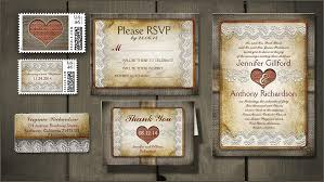 Burlap Barn Wedding Invitations