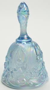 Fenton Blue Fairy Lamp by Fenton Art Glass Blue Carnival Glass Bell 6