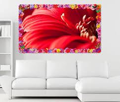 3d wandtattoo rote blume gerbera leidenschaft rot blumen rahmen wandbild wohnzimmer wand aufkleber 11l1218 wandtattoos und leinwandbilder