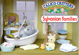 sylvanian families calico critter country bathroom set unboxing