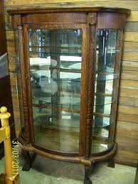 antique china cabinets with curved glass with eagle claws china