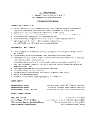 Personal Support Worker Sample Resume Nurse Tutor Within Psw