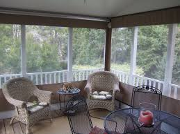 Searsca Patio Swing by Piedmont Enclosures Roll Up Porch Curtains Two Story Deck