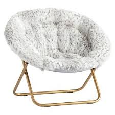 Gray Leopard Faux Fur Hang A Round Chair