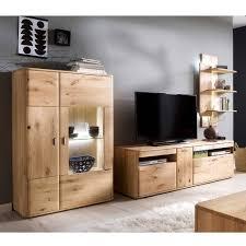 wohnzimmermöbel set aus holz destal 3 teilig