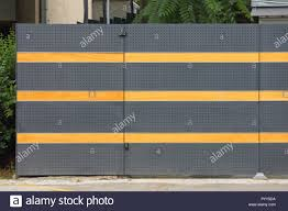 100 Contemporary Gate Metal And Fence With Lines Stock Photo
