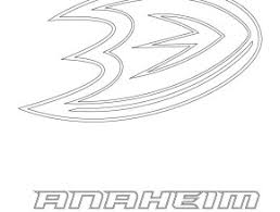 Anaheim Ducks Logo Coloring Page Free Printable Pages