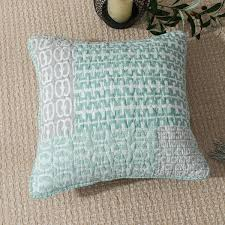 dada bedding set of two mint geometric square accent cushion