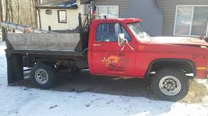 100 Chevy Dump Truck 1984 2500 With Plow And 2 Hitch Salters Classic