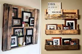 Modern Cabin Decor Family Photos Frames Rustic Wooden Pallet DIY Project Gallery Lodge Home