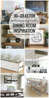 remodelaholic 30 ideas for contemporary rustic dining room