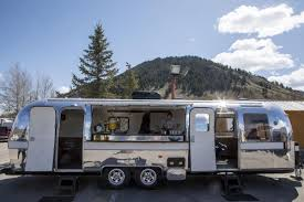 100 Refurbished Airstream Jackson Woman Turns Old Into Rolling Lounge Wyoming