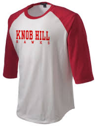 Knob Hill Elementary School Hawks Men s T Shirts Long Sleeve
