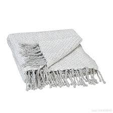 plaid gris canapé couvre lit plaid couverture en coton canapé lit jeté de canapé 100