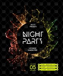Night Disco Party Poster Background Royalty Free Vector Clip Art