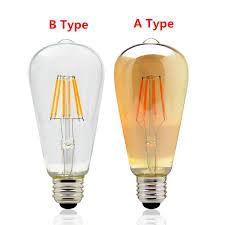 ac 220v vintage edison dimmer light e27 led bulbs st64 warm white