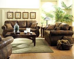 Traditional Rustic Microfiber Sofa Set Living Room Furniture Interior Nice Figure Above Headrest Concept