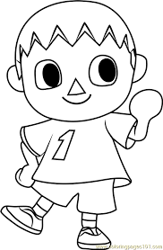 Colouring Animals Games Online The Villager Animal Crossing Coloring Page Free