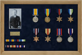 Medal Display Frame Slotted Ribbons