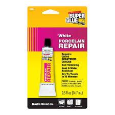 Bathtub Refinishing Kit Home Depot by Super Glue 5 Fl Oz White Porcelain Repair 12 Pack 19061 6