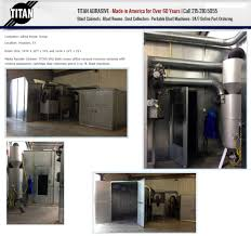 Bead Blast Cabinet Vacuum by Titan Abrasive Systems Llc Ivyland Pennsylvania Pa 18974