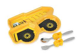 100 Kids Dump Truck Funwares Me Time Meal Set 3Piece Set For