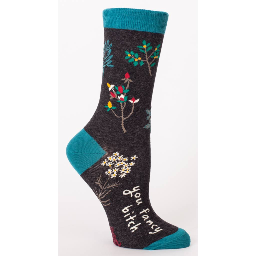 Blue Q Women's Crew Socks - You Fancy Bitch