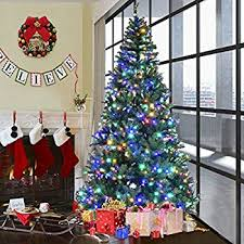 Goplus 9FT Pre Lit Artificial Christmas Tree Auto Spread Close Up Branches 11