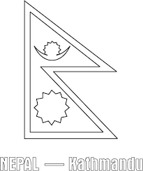 Nepal Flag Coloring Page
