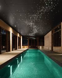 Fiber Optic Ceiling Lamp by These Lights Will Turn Your Pool Into Starry Sky Outdoortheme Com