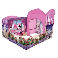 Minnie Mouse Bedroom Set Full Size by Amazon Com Playhut Minnie Mouse Cottage With Tea Set Pink Toys