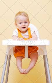 Baby Boy In High Chair - Photos By Canva